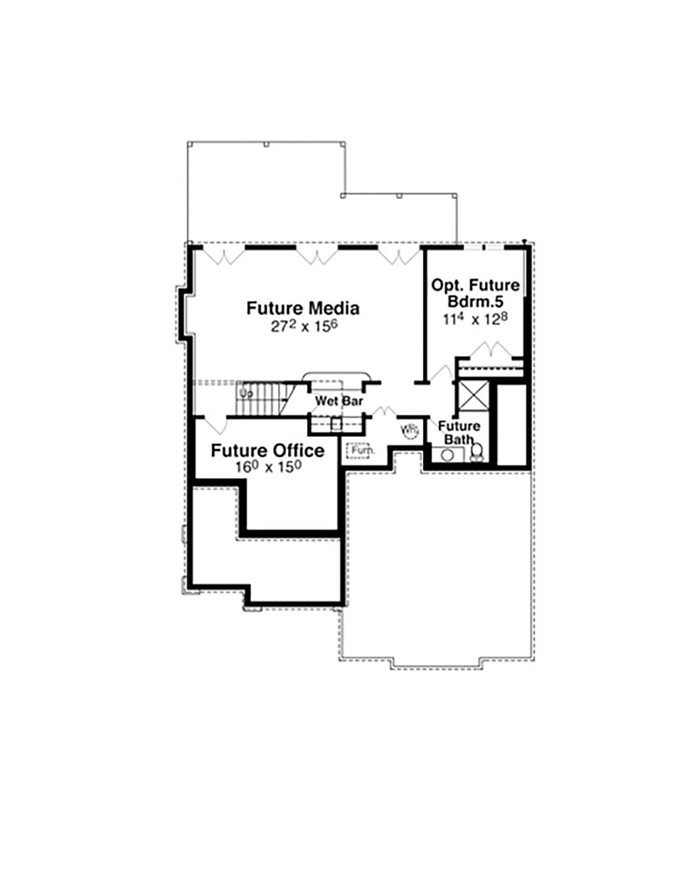 Bungalow, Cottage, Craftsman, Narrow Lot House Plan 80260 with 4 Beds, 4 Baths, 2 Car Garage Picture 4