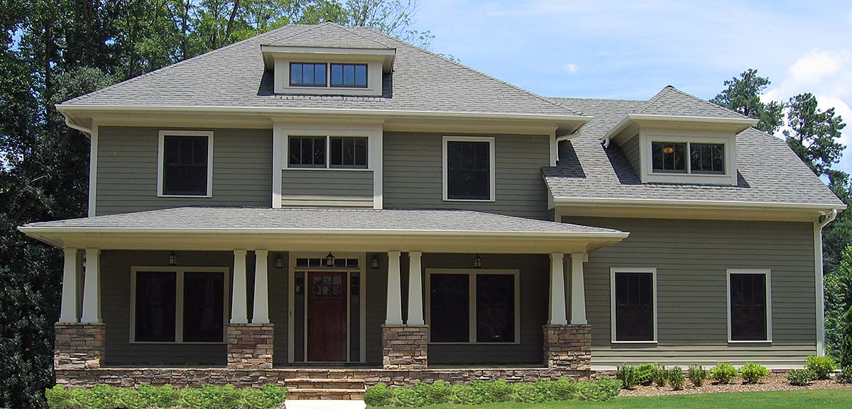 Craftsman, Traditional House Plan 80267 with 4 Beds, 4 Baths, 2 Car Garage Elevation