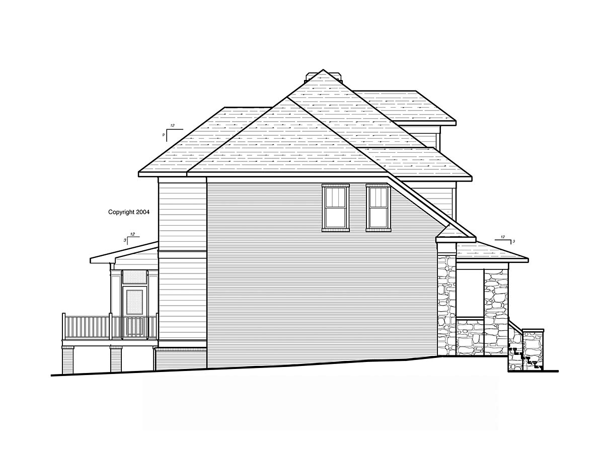 Craftsman, Traditional House Plan 80267 with 4 Beds, 4 Baths, 2 Car Garage Picture 2