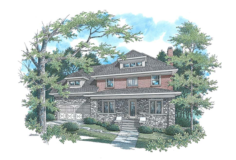 Craftsman, Traditional House Plan 80267 with 4 Beds, 4 Baths, 2 Car Garage Picture 3