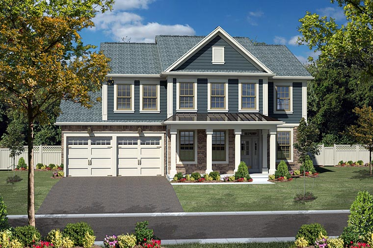 Colonial Traditional House Plan 80300 Elevation