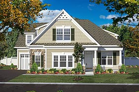 House Plan 80303 | Bungalow Cottage Craftsman Style Plan with 2375 Sq Ft, 3 Bedrooms, 3 Bathrooms, 3 Car Garage Elevation