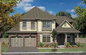 Cottage Craftsman House Plan 80305 Elevation