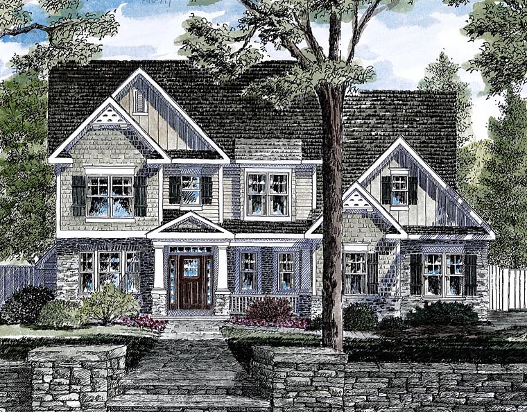 Craftsman Traditional House Plan 80311 Elevation