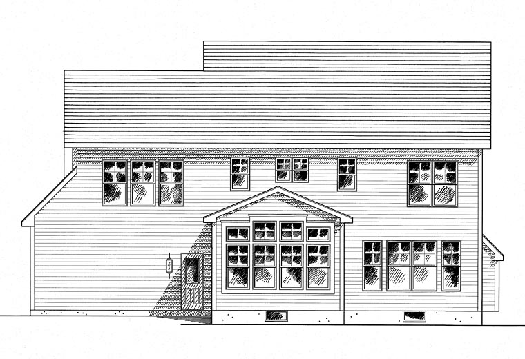 Craftsman Traditional House Plan 80311 Rear Elevation