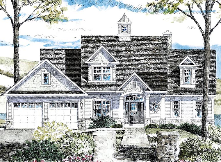 House Plan 80314 | Cape Cod Cottage Craftsman Style Plan with 2410 Sq Ft, 3 Bedrooms, 3 Bathrooms Elevation