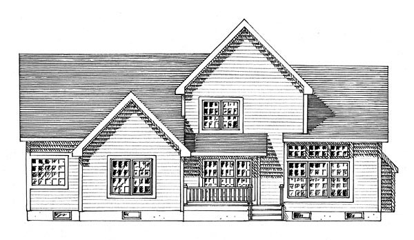 Colonial Traditional House Plan 80316 Rear Elevation