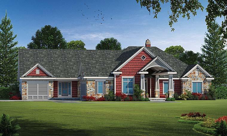 Craftsman House Plan 80403 Elevation