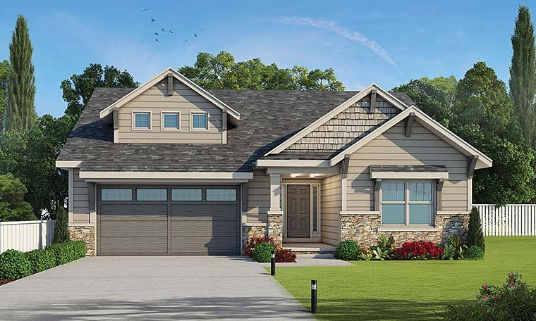 Cottage Craftsman Southern Traditional House Plan 80405 Elevation