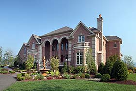 European , Mediterranean , Southern , Traditional House Plan 80407 with 4 Beds, 7 Baths, 3 Car Garage Elevation