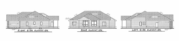 Ranch Traditional House Plan 80409 Rear Elevation
