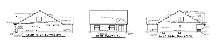 Craftsman Traditional House Plan 80410 Rear Elevation