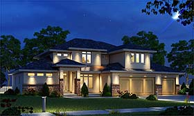 Contemporary Tuscan House Plan 80411 Elevation