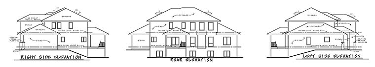 Contemporary Tuscan House Plan 80411 Rear Elevation