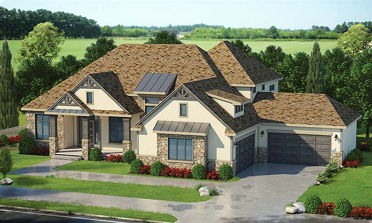 Craftsman Traditional House Plan 80412 Elevation