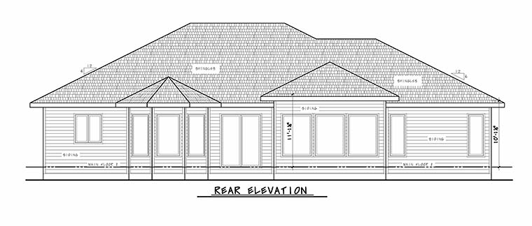 European Tuscan House Plan 80413 Rear Elevation
