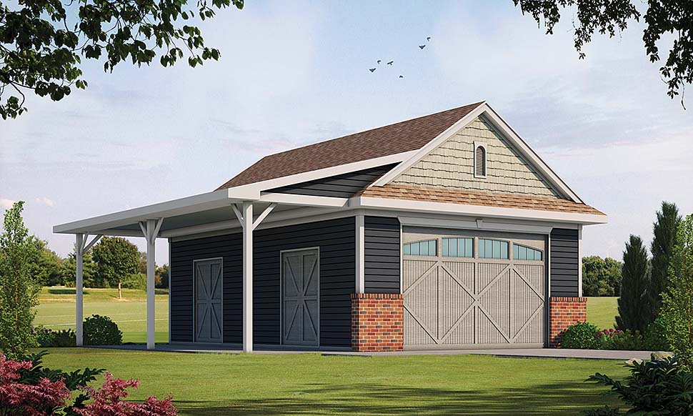 Country , Traditional 0 Car Garage Plan 80416 Elevation