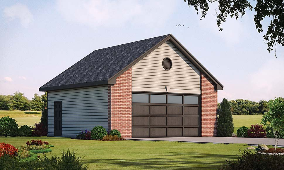 Traditional 2 Car Garage Plan 80428 Front Elevation
