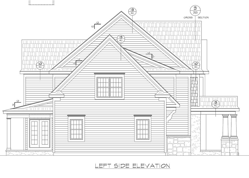 Farmhouse, Traditional House Plan 80433 with 4 Beds, 3 Baths, 2 Car Garage Picture 2
