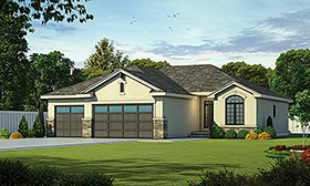 Traditional , European House Plan 80435 with 3 Beds, 2 Baths, 3 Car Garage Elevation