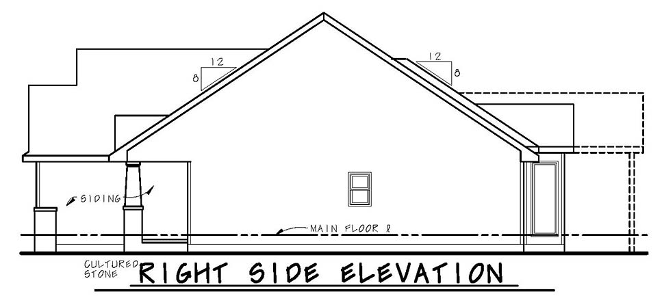 Bungalow, Craftsman House Plan 80437 with 3 Beds, 2 Baths, 3 Car Garage Picture 1
