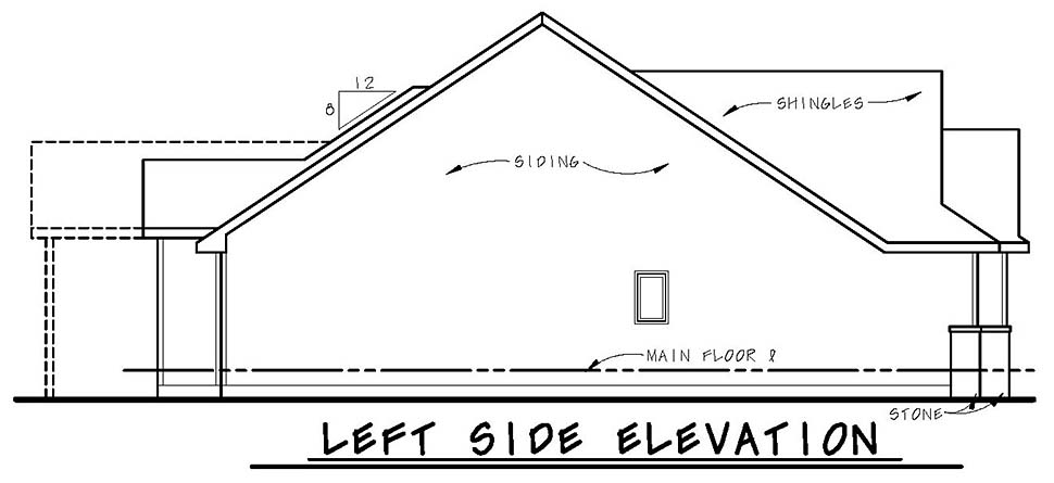 Bungalow, Craftsman House Plan 80437 with 3 Beds, 2 Baths, 3 Car Garage Picture 2