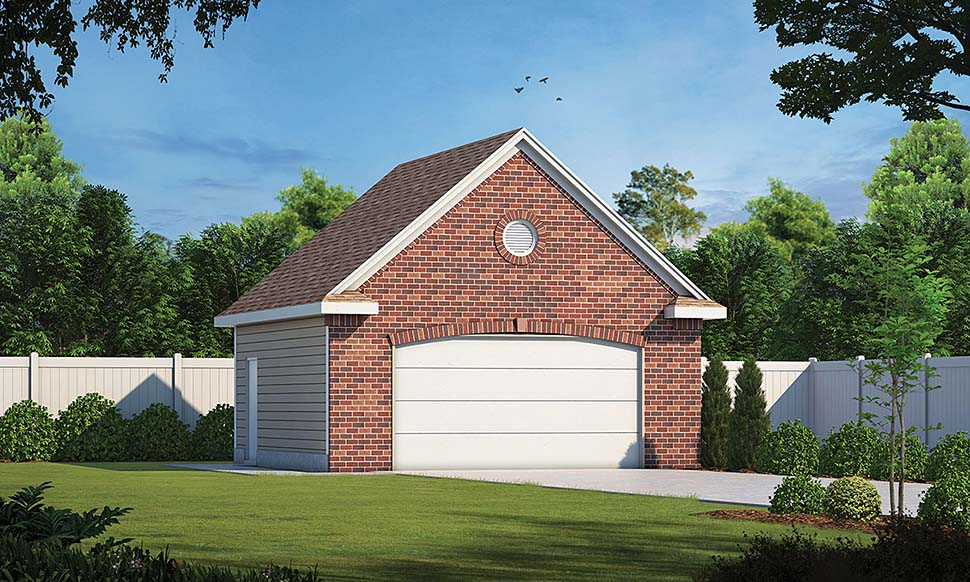 Traditional 2 Car Garage Plan 80439 Front Elevation