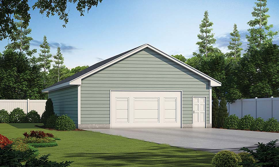 Traditional Garage Plan 80440 Elevation