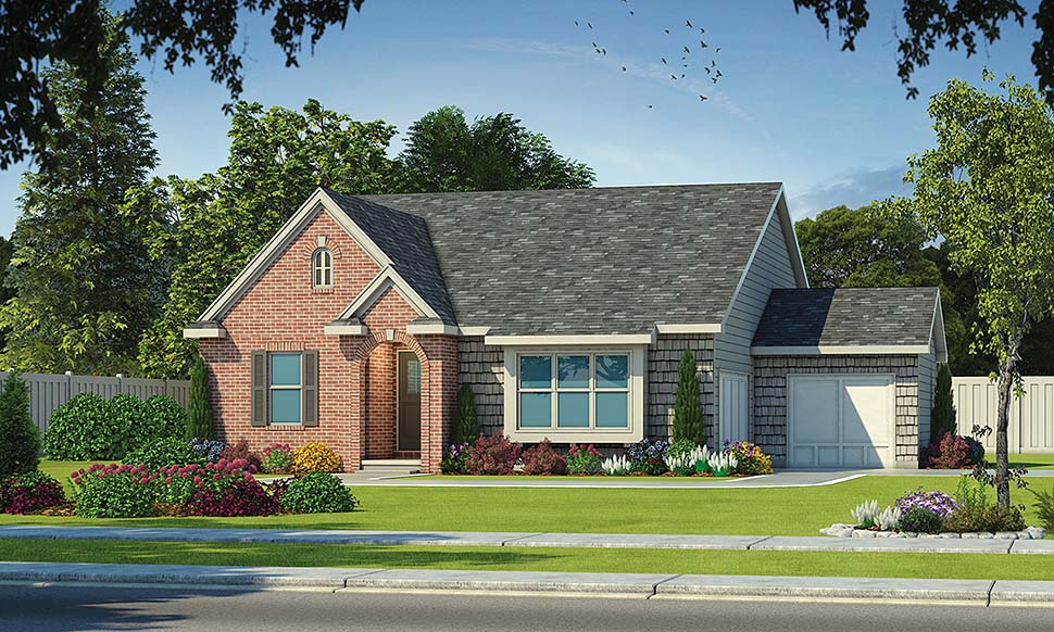 House Plan 80443 | Craftsman Traditional Style Plan with 2140 Sq Ft, 3 Bedrooms, 2 Bathrooms, 2 Car Garage Elevation
