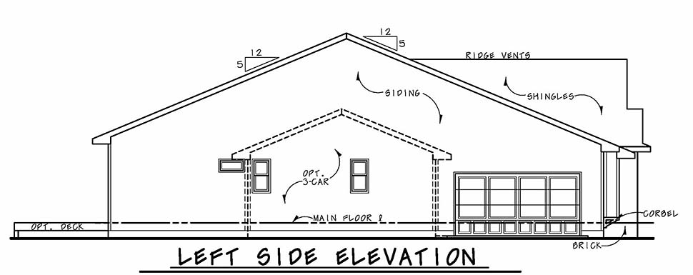 Craftsman, Traditional House Plan 80443 with 3 Beds, 2 Baths, 2 Car Garage Picture 2