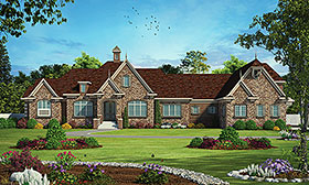 French Country , European House Plan 80444 with 4 Beds, 8 Baths, 3 Car Garage Elevation