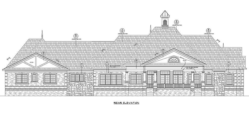 European French Country House Plan 80444 Rear Elevation