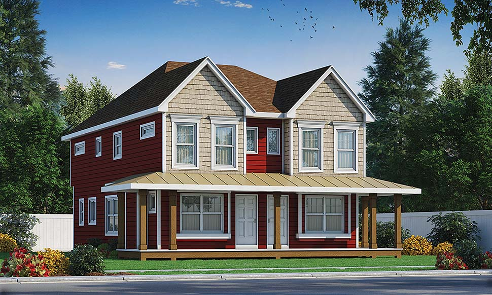 Southern, Traditional Multi-Family Plan 80447 with 4 Beds, 6 Baths Elevation