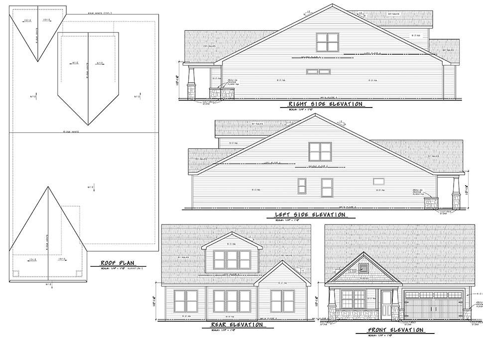House Plan 80449 Craftsman Style With 2666 Sq Ft 3 Bed 2 Bath 1 Half Bath