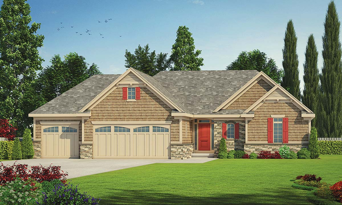 Cottage Country Ranch House Plan 80450 Elevation