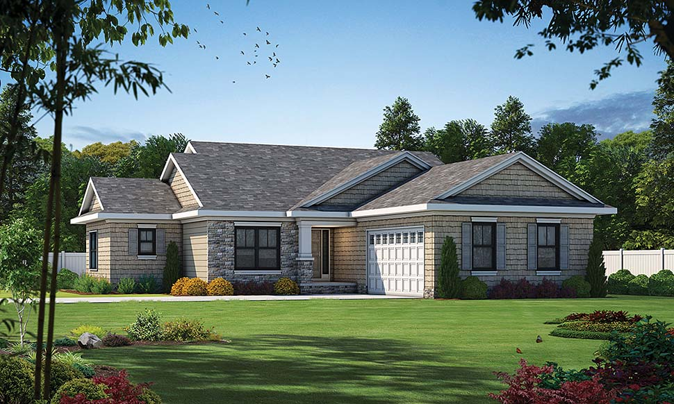 Cottage Country Ranch Traditional House Plan 80451 Elevation