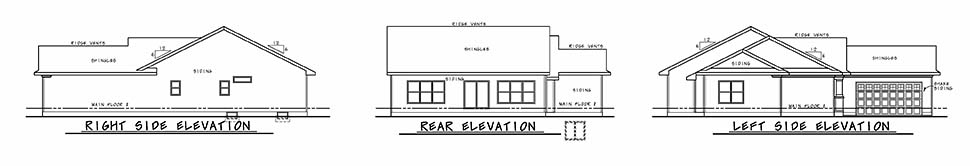 Cottage Country Ranch Traditional House Plan 80451 Rear Elevation