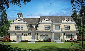 Cape Cod , Country House Plan 80452 with 5 Beds, 6 Baths, 3 Car Garage Elevation
