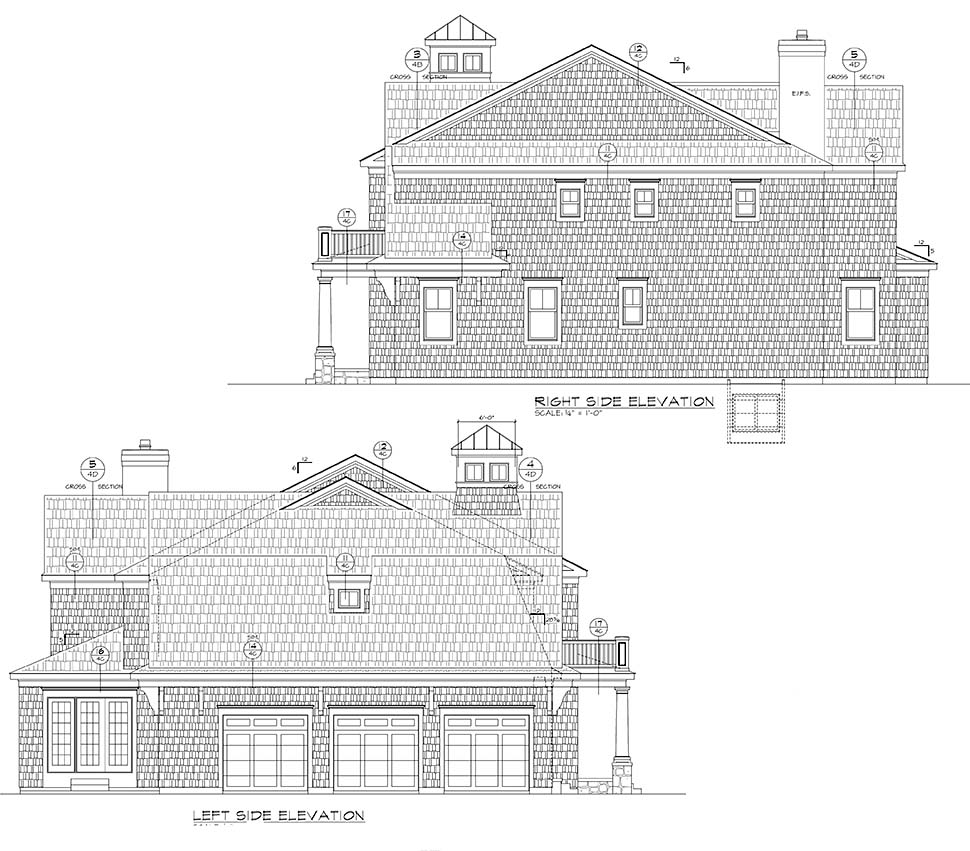 Cape Cod, Country House Plan 80452 with 5 Beds, 6 Baths, 3 Car Garage Picture 1