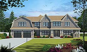 Country , Craftsman , Farmhouse House Plan 80455 with 4 Beds, 5 Baths, 2 Car Garage Elevation