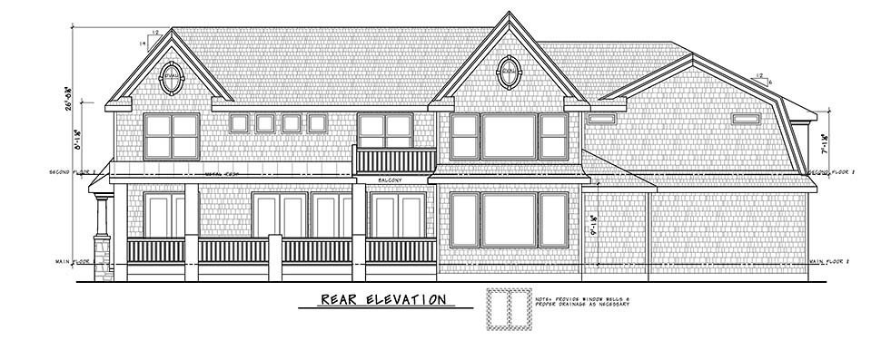 Country , Craftsman , Farmhouse House Plan 80455 with 4 Beds, 5 Baths, 2 Car Garage Rear Elevation