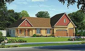 Traditional House Plan 80456 Elevation