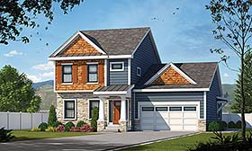Traditional House Plan 80457 Elevation