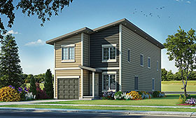 Modern , Contemporary Multi-Family Plan 80461 with 6 Beds, 6 Baths, 2 Car Garage Elevation