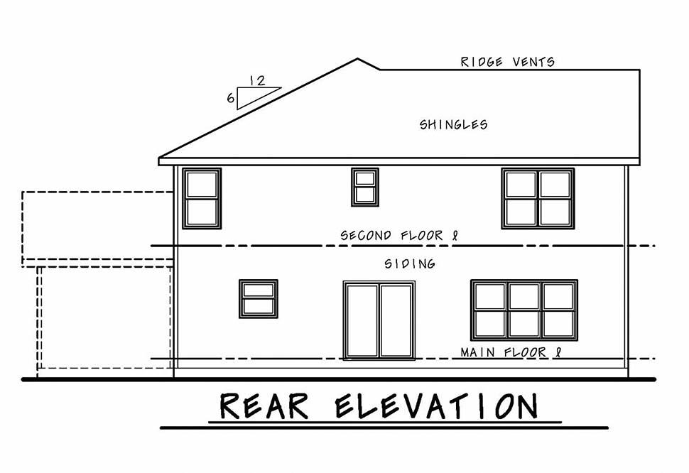 Craftsman House Plan 80463 Rear Elevation