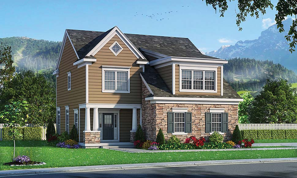 Traditional Elevation of Plan 80465