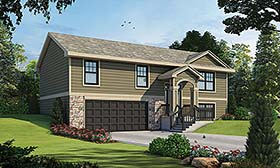 House Plan 80466 | Traditional Style Plan with 1150 Sq Ft, 3 Bedrooms, 2 Bathrooms, 2 Car Garage Elevation