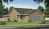 Plan Number 80468 - 1327 Square Feet