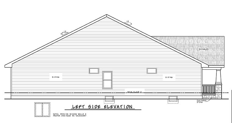Craftsman House Plan 80470 with 3 Beds, 2 Baths, 2 Car Garage Picture 2