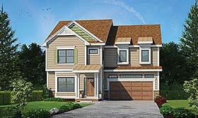 Traditional House Plan 80471 with 4 Beds, 4 Baths, 2 Car Garage Elevation